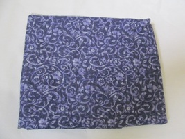 Bluish Purple Medium Scale Floral Quilting Fabric JoAnn Fabrics 1 Yard - $9.90
