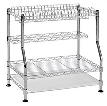 """Muscle Rack WDR181217 3-Tier Wire Dish Rack, Chrome, 17"""" Height, 18"""" Width - $39.48"""