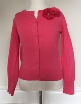 NWOT Coral GapKids Cardigan Sweater button Up, Flowers by Collar Size Small 6-7 - $19.79