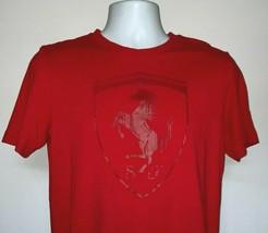 Puma Scuderia Ferrari Racing T Shirt Mens Small Red Prancing Horse Logo - $22.72