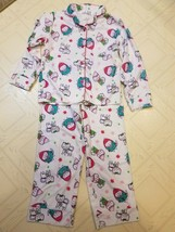 Jumping Beans Pajama Set (Top & Bottom) Size 7  White with Cats/Kittens - $6.99