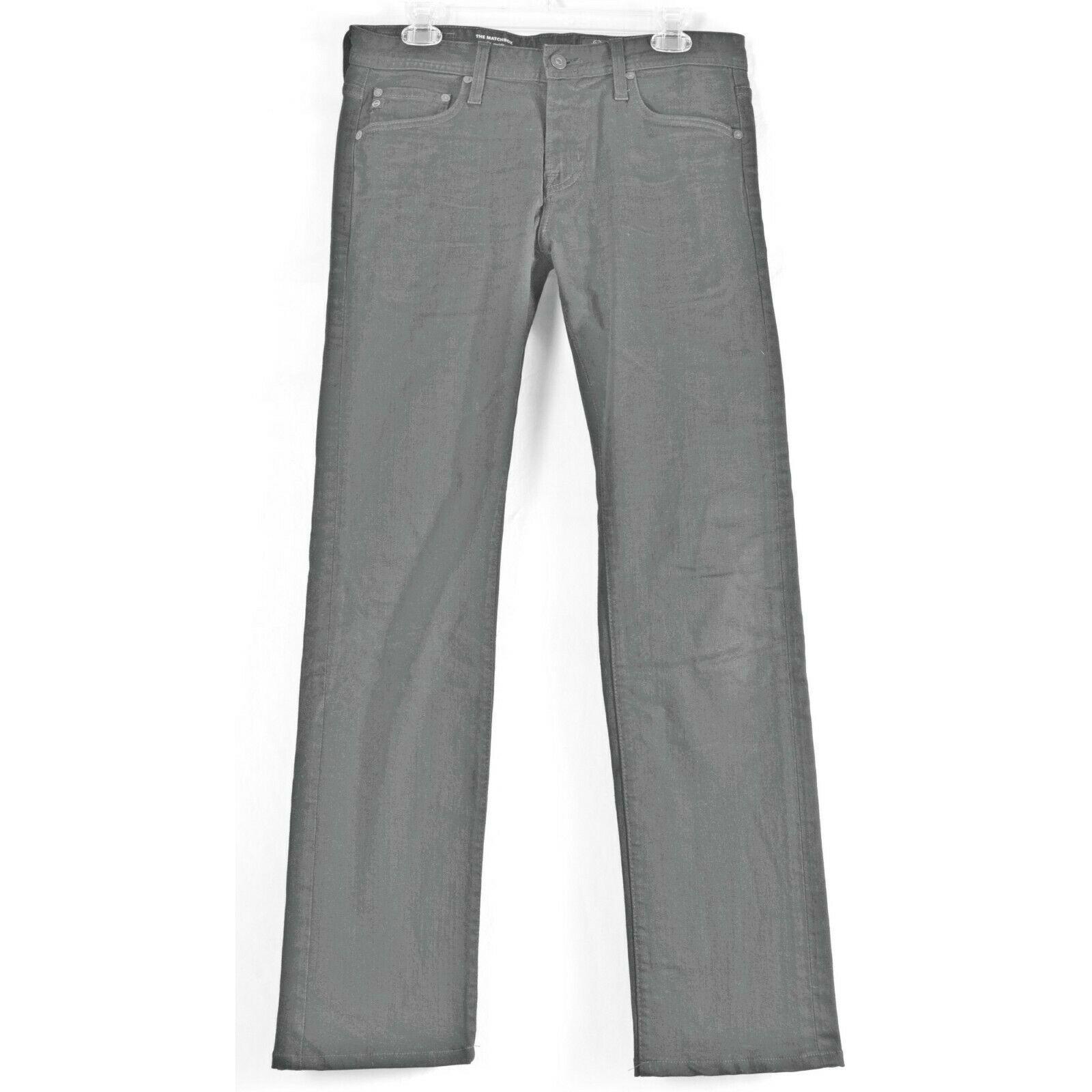 AG Adriano Goldschmied jeans 30 x 34 men Matchbox dark Slim Straight tall unique image 7