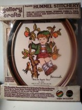 Hummel Stitchery Knitting Kit Yarn Included #8032 Boy in Apple Tree - $30.17