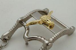 Herren Freizeit Western Cowboy Gürtelschnalle Silber Metall Lang Horn Kuh Gold image 8