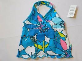 The Children's Place Bebé Niña Top Cuello Halter Tanque 6-9 Meses Flores Azules - $24.73