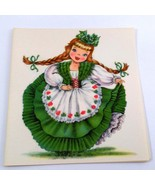 Dolls of Many Lands Card Ireland Vintage Blank Note Card for Collage, Ep... - $2.50