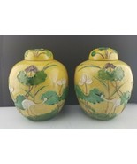"""Antique Matching Pair Wang Bing Rong Ginger Jars Chinese Pottery 9½"""" w D... - $1,212.75"""