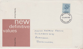 GB 1978 10.5p definitive FDC Newcastle postmark see rest - $0.39