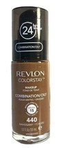 Revlon Colorstay 24 Hr Foundation Makeup Combination Oily Skin, 440 Maho... - $7.94