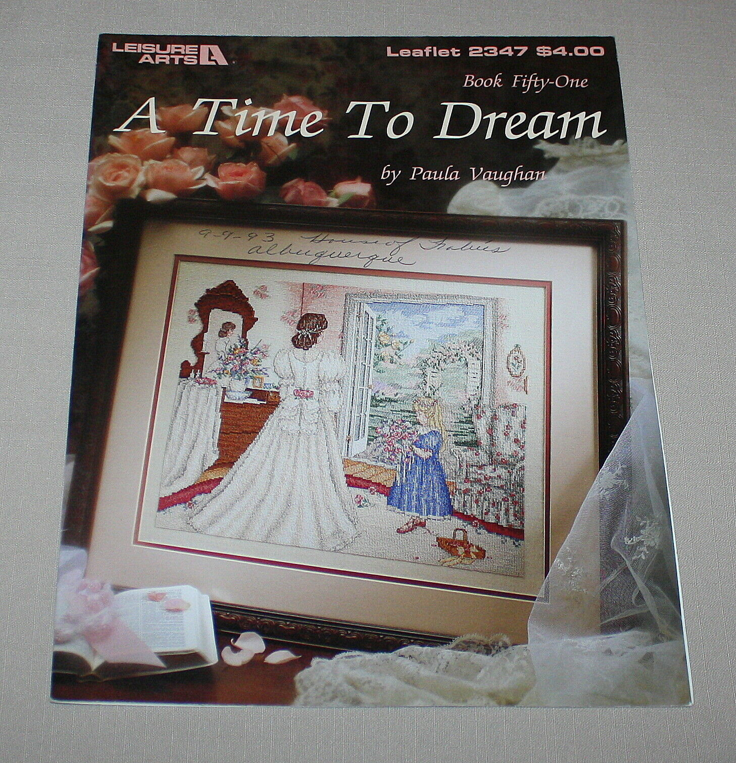 A Time to Dream Leisure Arts 2347 Cross Stitch Pattern Book 51 Paula Vaughan
