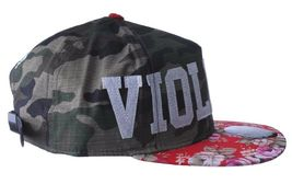 Official Crown of Laurel Peaceful Violence Camo Flowers Strapback Baseball Hat image 3