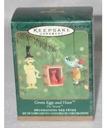 Hallmark Keepsake 2000 Green Eggs and Ham Miniature Ornament QXM6034 NEW IN BOX