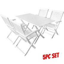 Dining Chairs And Table Set Outdoor Indoor Seat Folding Breakfast Furnit... - $379.48