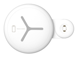 nt7 2 in 1 qi wireless charger white max xr samsung watch fast wireless ... - $56.99