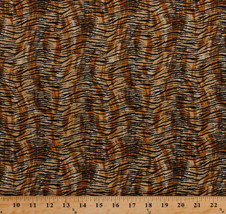 Cotton Tiger Stripes African Animal Print Cotton Fabric Print by Yard D3... - $9.95