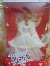 Dolls Holiday Blonde Barbie Special Edition 1989-White Gown W/Fake Fur-B... - $69.99