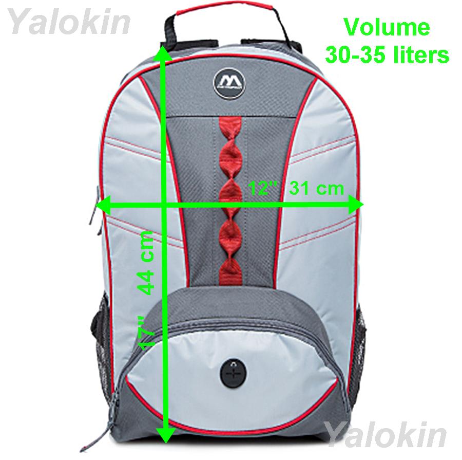 NEW Light Grey With Red Webbing Fashion Unisex Backpack Shoulder Book Bag