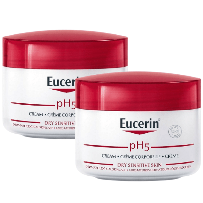 2 Eucerin pH5 Cream 75 ml |Face & Body  |24 hrs Moisturiser |Sensitive Skin - $34.00