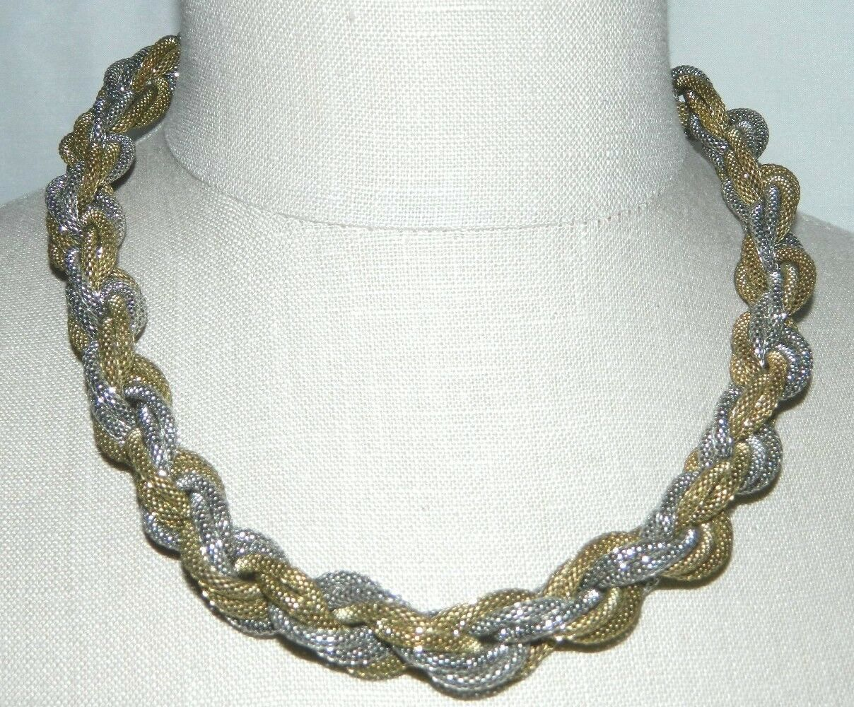 Primary image for VTG VINCERO Signed Dual Tone Mesh Multi-Chain Choker Necklace