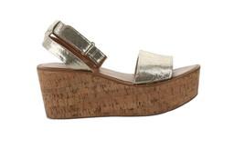 Franco Sarto Ankle Strap Wedges Jovie Gold Metallic 7.5M NEW A306944 - $88.09