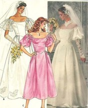 Butterick 3136 Misses Bridal Gown: Lined Dress with Shaped Front Bodice, Princes - $15.83