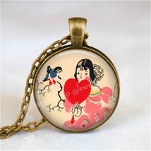 ART DECO VALENTINE Pendant Necklace Jewelry Vintage Valentine, Heart Jew... - $12.95