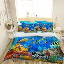 3D Sea Fish View 126 Bed Pillowcases Quilt Duvet Single Queen King US Summer - $102.84+