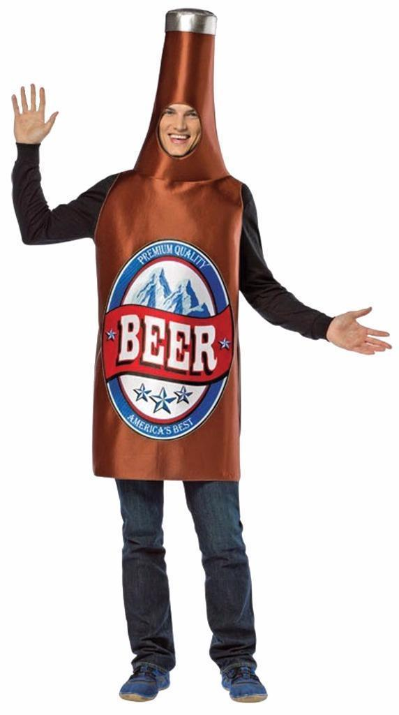 Beer Bottle Costume Adult Alcohol Halloween Party Unique Cheap GC336