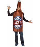 Beer Bottle Costume Adult Alcohol Halloween Party Unique Cheap GC336 - $52.99