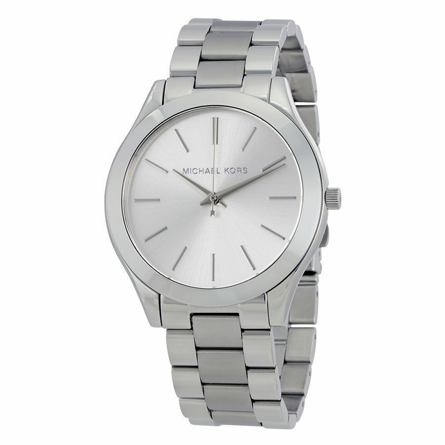 Primary image for Michael Kors MK3178 Slim Runway Silver Wrist Watch for Women