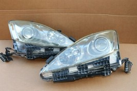 06-08 Lexus iS250 iS350 Halogen Headlight Lamps Set Left Right L&R POLISHED