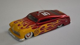 Jada Toys 1/24 Red Flames 1951 Mercury Fire Dept Chopped Diecast Car (Scratches) - $17.81