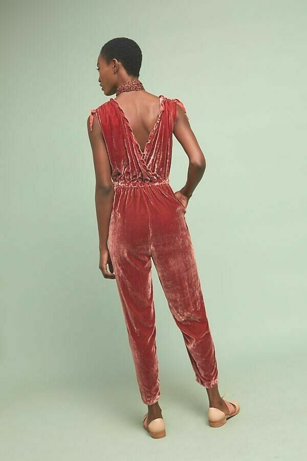 Anthropologie Great Velvet Jumpsuit by Birds of Paradis by Trovata $299 XS - NWT