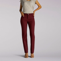 Lee Women's Classic Fit Cinnamon Straight Leg Slimming Jean Size 16M New... - $20.48