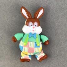 Bloomer Bunny American Greetings Easter Pin Lapel Brooch Vintage - $9.79