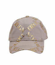 True Religion Mens Gold Metallic All Over Print Cap Sport Strapback Baseball Hat image 3