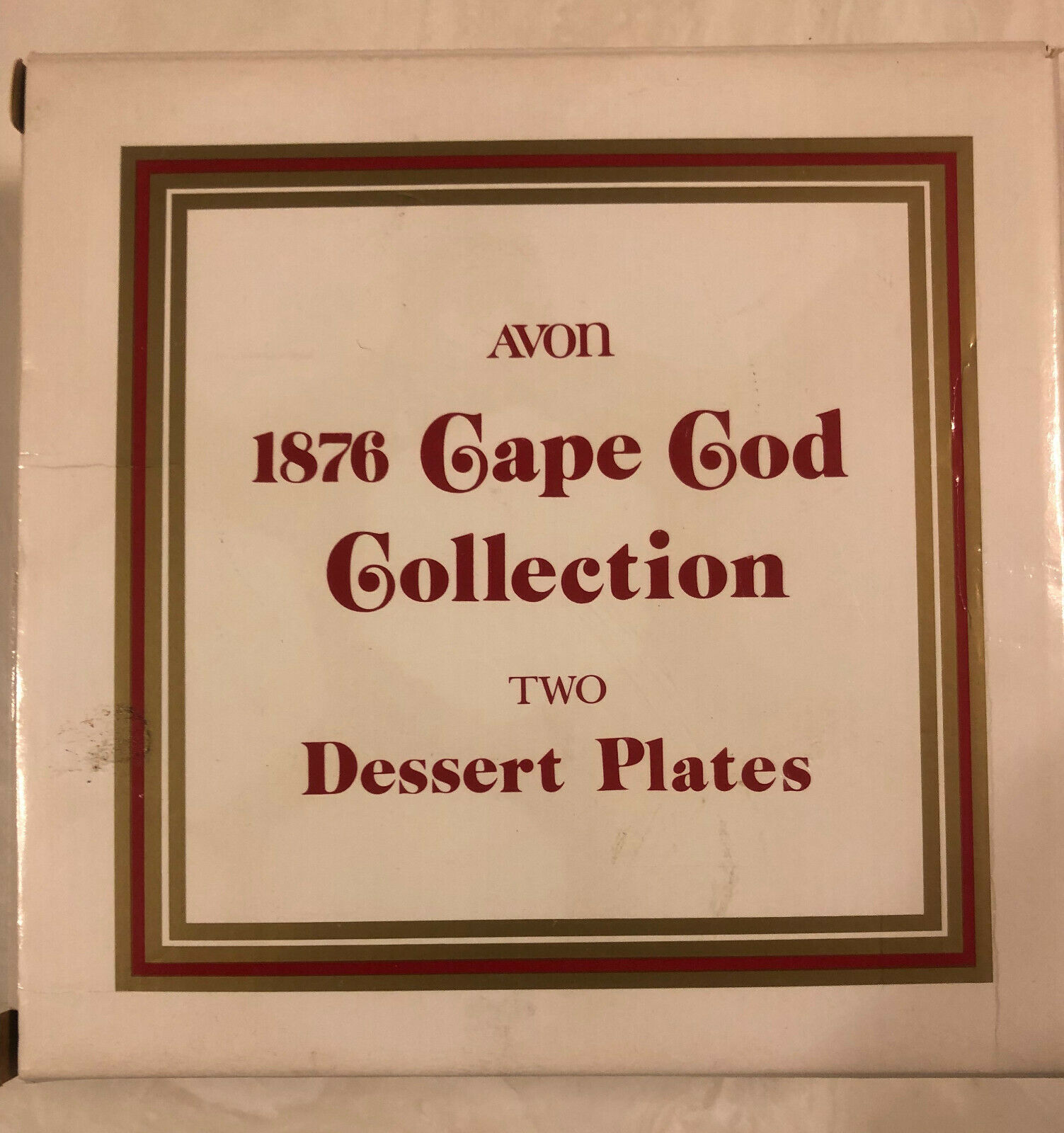 Vintage 1876 Cape Cod Collection / Two Dessert Plates / Ruby Red / Avon