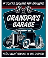 New Grandpa's Garage Decorative Metal Tin Sign - $9.41
