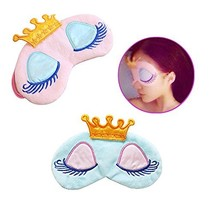 AKOAK Pack of 2 Cute Girl's Travel Princess Crown Sleeping Eye-Shade Bli... - €8,35 EUR