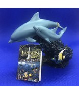 Lassen Dolphins Resin Figurine Statute Sculpture Iridescent Reef - $18.33