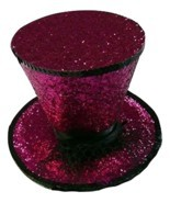 LAA2063 (Fuchsia) Mini Top Hat W Veil - £11.59 GBP