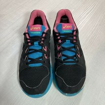 Asics Training Women Size 9.5 Black/Teal/Pink Running Athletic Shoes S653J - $31.68