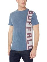 Buffalo David Bitton Men's Crew Neck Single Jersey Silicon Wash, Blue, L - $24.74