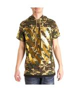 Short sleeve camouflage top with hoodie - $14.99