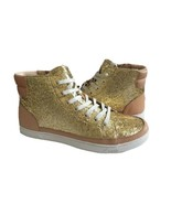 UGG GRADIE GLITTER GOLD ANKLE SNEAKERS LEATHER SHOE US 7.5 / EU 38.5 / UK 6 - $83.22