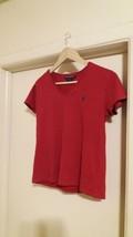 Ralph Lauren Sport Short Sleeve Women V Neck Shirt Medium Size - $9.41