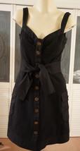 NWOT Diane von Furstenberg DVF Black Cotton Spandex Sundress Dress - $58.09