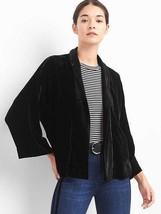 GAP Women's Velvet Swing Kimono, Black, Rayon/Silk, Size M, NWT - $80.99