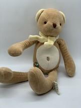 "My Natural Plush Teddy Bear in Yellow Scarf Brown Stuffed Animal Toy 11""... - $9.99"