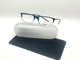 NEW NIKE7252 017  BLACK/CLEAR  OPTICAL Eyeglasses 55-17-145MM /CASE &CLOTH - $58.17